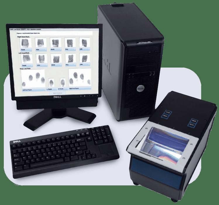 Fingerprint capture equipment